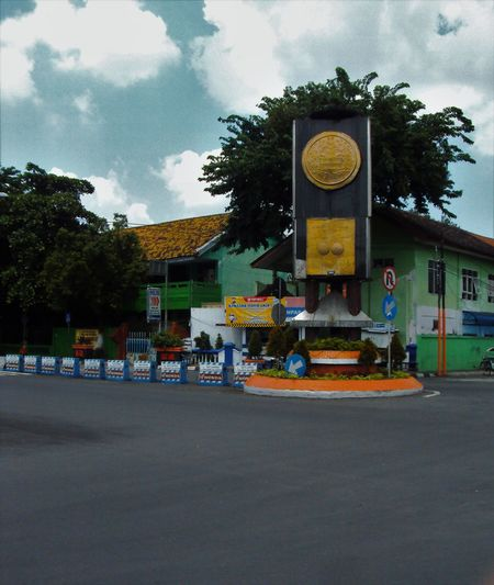 An INDONESIA City named Mojokerto .. the adipura located near Gas station and about 500 Meters from Mojokerto Trainstation