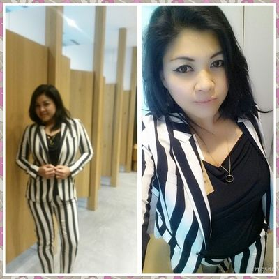 Do i look like a zebra??haha..new arrival..Stripes Black White