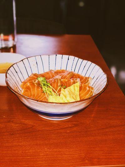 Sake Donburi Donburi Salmon Sashimi Food And Drink Food Freshness Ready-to-eat Serving Size Indoors  No People Japanese Food Healthy Eating Close-up