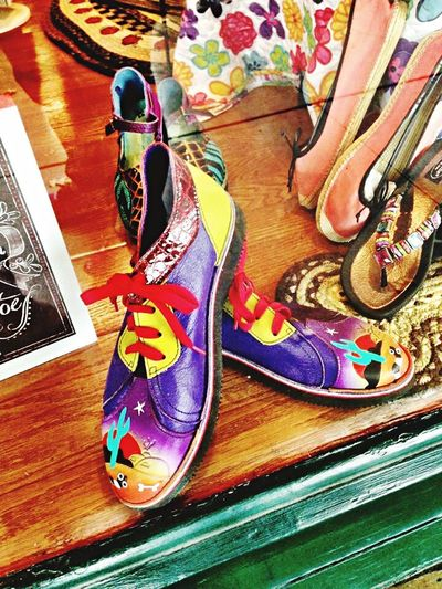Shoe No People Close-up Colorful Store Window Desert Beauty Fashion