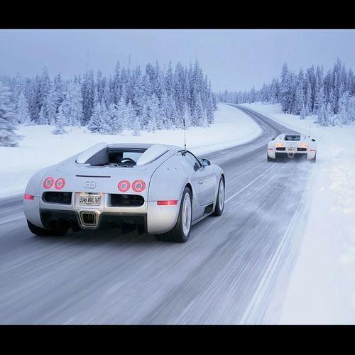 Bugatti Veryon in the Snow