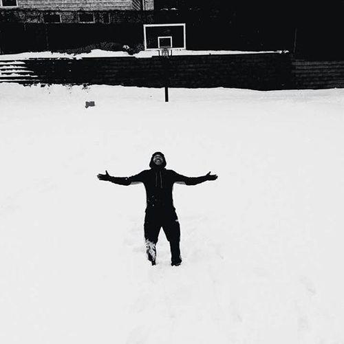 Having fun in the snow Shot by @_nyctophil1a_ Fallingonthesnowhurt Snowy Blizzard2016 Snowenteredmyback Ilooklikeigotshot Snowday Fun