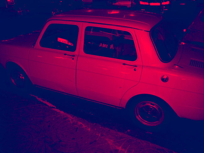C L A S S I C 🚗 Transportation Car Vehicle Vintage Mode Of Transportation Land Vehicle Night Night Photography Red Stationary Finding Streetphotography Antique From Yesterday  Red Color Red Theme In Red Redphotography Casual Cars Car Point Of View In The Street Street Fashion Street Moment No People