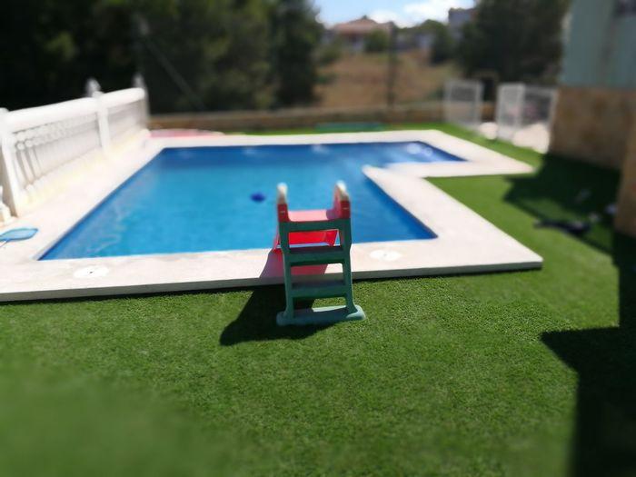 Slide in swimming pool
