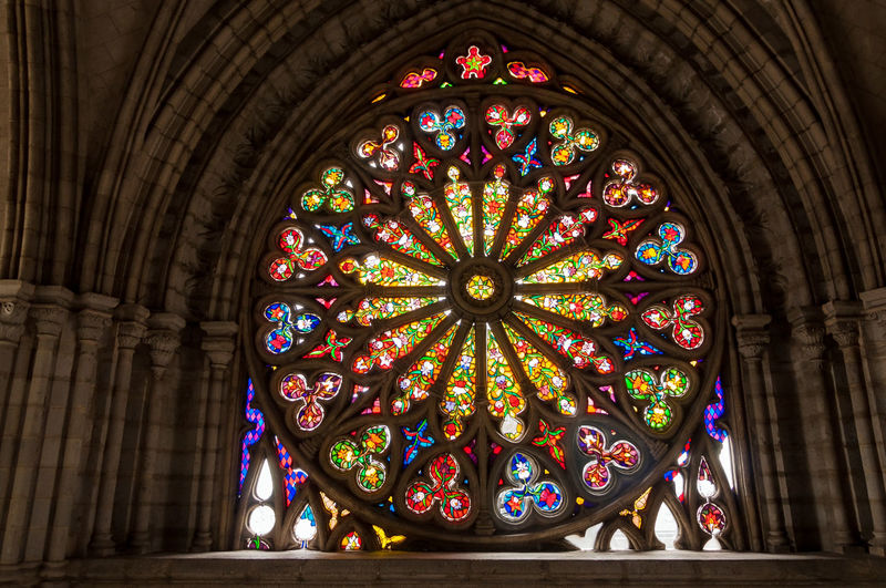 Stained Glass Window In Basilica Of The National Vow