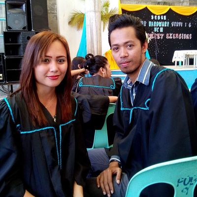 Let me start this Graduation Season with my own, first day of March. We're graduating again today! Graduation Tesda CHS Computer toga