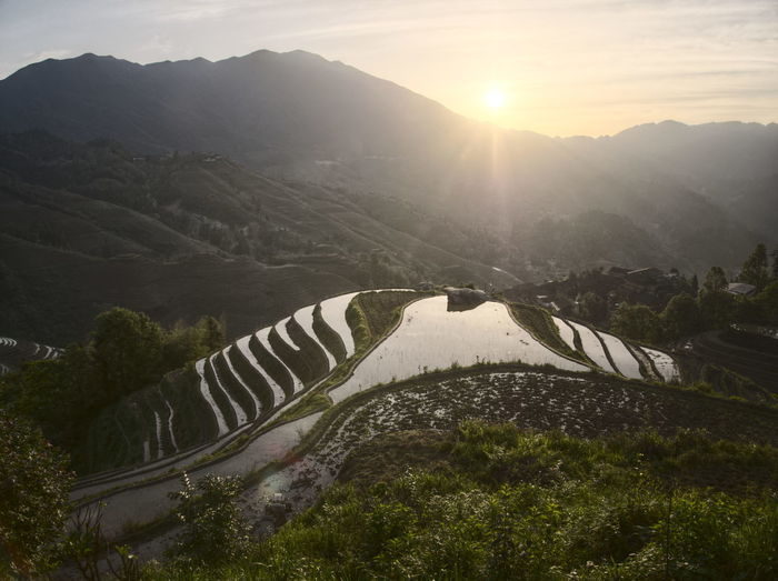 2017 Longsheng-China Beauty In Nature China Day High Angle View Hydroelectric Power Landscape Mountain Mountain Range Nature No People Outdoors Rice Terraces River Scenics Sky Tranquil Scene Tranquility Water