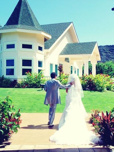 Wedding House Architecture Residential Building Front Or Back Yard Building Exterior Luxury Built Structure Home Ownership Lawn Lifestyles People Outdoors Grass Day Adult One Person Sky Only Men