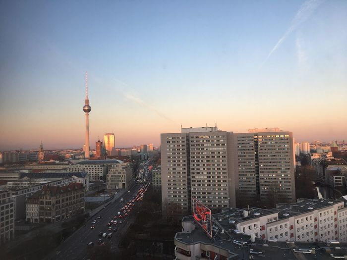 winter light berlin dez 2017 Architecture Building Exterior City Built Structure Tall - High Skyscraper Tower Sunset Sky Modern Cityscape Outdoors Travel Destinations No People High Angle View Urban Skyline Television Tower Day