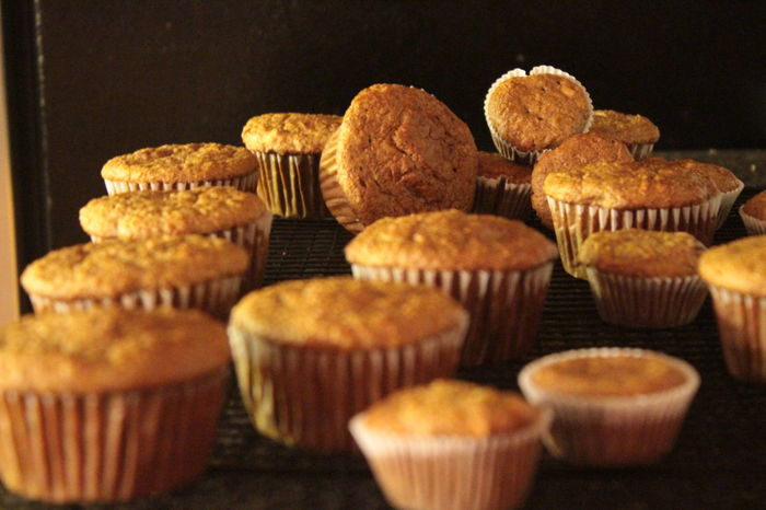 Autumn Food Baked Goods Bran Muffins Breakfast Close-up Food Muffins Organic Food