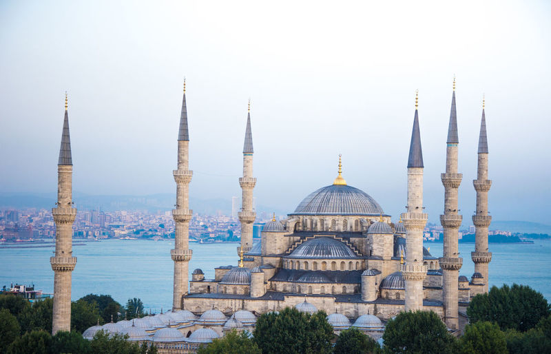 Architecture Architecture_collection Blue Mosque Arabic Architecture Architecture Building Exterior Built Structure Day Dome Mosque Architecture No People Outdoors Place Of Worship Religion Sky Spirituality Travel Destinations Tree Water