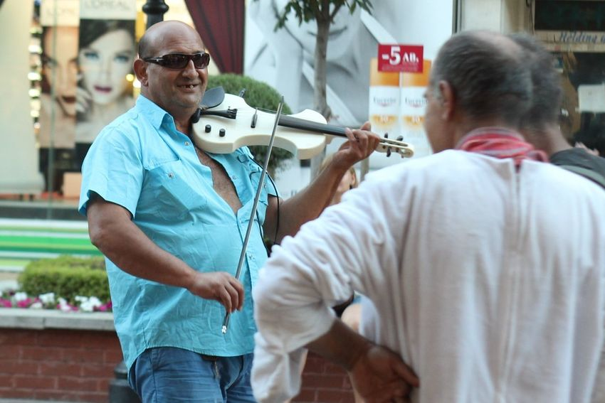 Art Blue Casual Clothing Cute Focus On Foreground Fun Leisure Activity Lifestyles Men Music Music Is My Life Musician People Portrait Street Street Photography Sunglasses Violin Violinist Showcase June