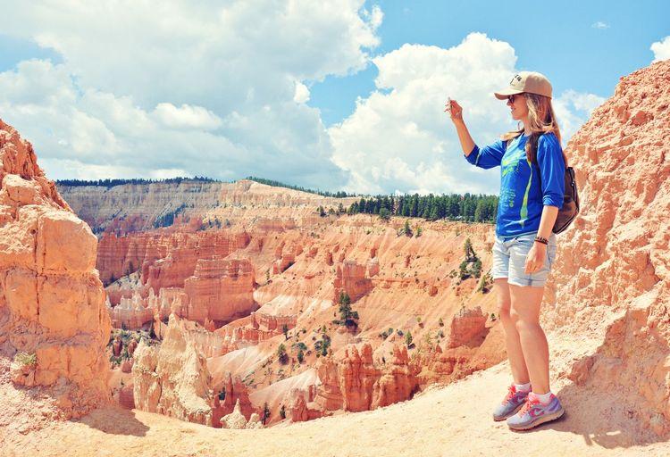Utah Bryce Canyon National Park Bryce Canyon Travel Destinations Travel Photography Tranquility OpenEdit Nikon Nature Amazing Nature USA Rock Formation National Park Taking Photos Cloud - Sky Arid Climate Geology The Traveler - 2018 EyeEm Awards