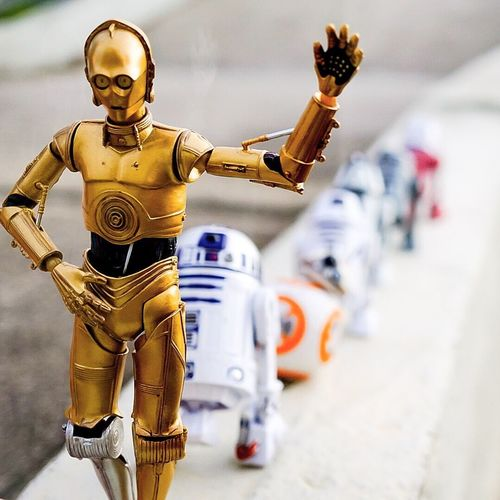 Follow the leader guys! Starwars Actionfigurephotography Toycommunity Toyphotographer Actionfigurecollections Actionfigures Toy 3po