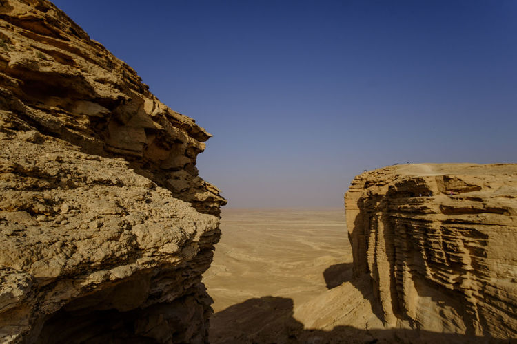 Arid Climate Beauty In Nature Clear Sky Day Edge Of The World Geology Hiking Landscape Nature Outdoors Physical Geography Rock - Object Rock Formation Saudi Saudi Arabia Scenics Sky Summer