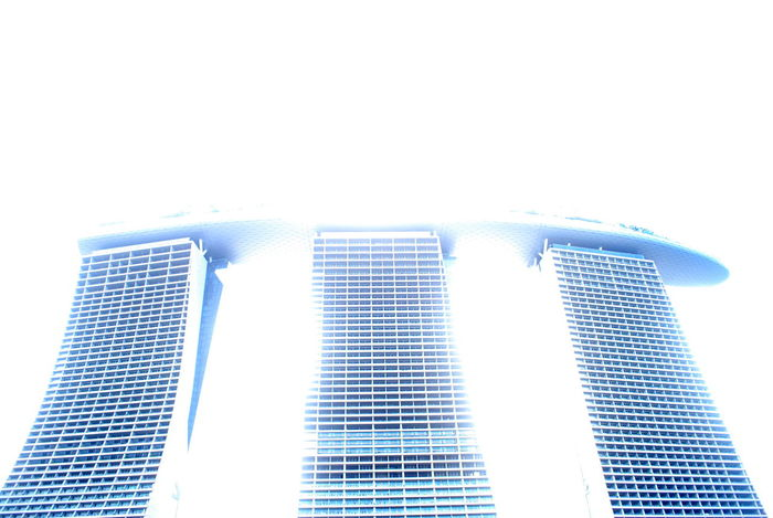 Architecture Blue Building Exterior Built Structure Day Marina Bay Sands Modern No People Outdoors Singapore Sky Skyscraper White Background Neighborhood Map The Architect - 2017 EyeEm Awards
