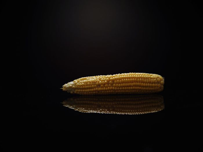 CornRay Black Background Corn Yellow Corn On The Cob Studio Shot No People Close-up Night Indoors  Hasselblad X1d Investing In Quality Of Life The Week On EyeEm Freshness Vegetable Raw Food Healthy Eating Black Background