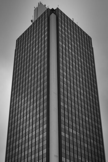 Architecture Black And White Building Exterior France Modern Nantes Office Building Skyscraper Tall Tour Bretagne Tower