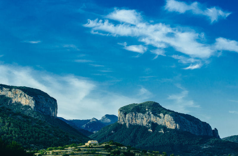 Mallorca SPAIN Beauty In Nature Blue Cloud - Sky Day Environment Finca Formation Holiday Apartments Land Landscape Mountain Mountain Peak Mountain Range No People Non-urban Scene Outdoors Rock Rock - Object Scenics - Nature Sky Solid Tranquil Scene Tranquility