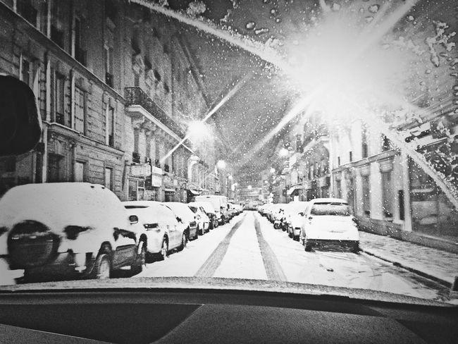 Paris ❤ Snow Neige Nocturne