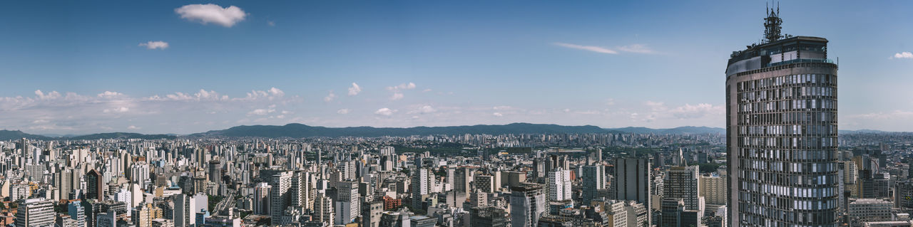 The panorama over the city of São Paulo from Edificio Copan. Architecture Blue Blue Sky City City Life Cityscape Cityscapes Cloud Concrete Concrete Jungle Edifício Copan Glass Neighborhood Map Niemeyer Panorama Panoramic Photography Skyline Skylines Skyscraper Tower Urban Urban Exploration Urban Geometry Urban Skyline Urbanphotography The Street Photographer - 2017 EyeEm Awards The Architect - 2017 EyeEm Awards This Is Latin America Adventures In The City The Great Outdoors - 2018 EyeEm Awards