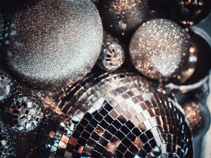 Christmas Party Decor Fashion Glitter Lights New Year Sparkling Winter Abstract Background Designs Backgrounds Beauty Christmas Decoration Christmas Tree Christmastime Close-up Colorful Decoration Disco Disco Ball Holiday Spirit Illuminated Indoors  No People Style