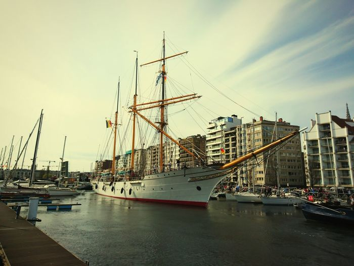 Mercator Returns Oostende, Belgium Mercator Belgium Driemaster Water Nautical Vessel Cloud - Sky Outdoors No People Sailing Ship Tall Ship Harbor