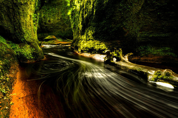 Beauty In Nature Blurred Motion Day Devils Pulpit Flowing Flowing Water Forest Growth Land Long Exposure Motion Nature No People Non-urban Scene Outdoors Plant Road Scenics - Nature Speed Tranquility Tree Water