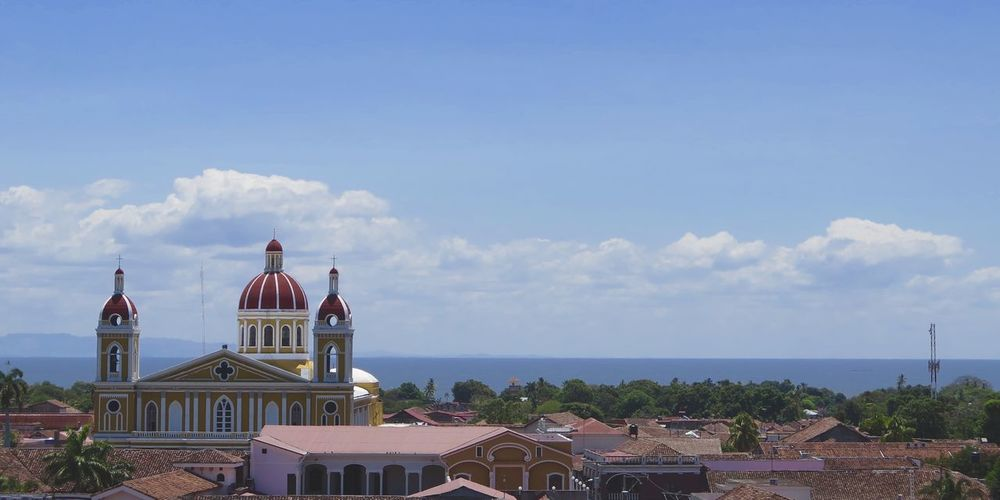 Architecture Church Colonial Architecture Granada Horizon Over Water Lake Lake View Nicaragua Town TOWNSCAPE
