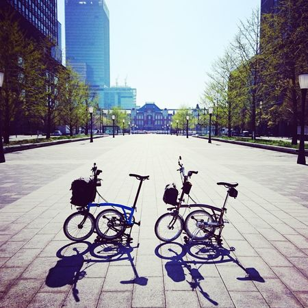 Tokyo Station Brompton Day Outdoors Architecture City Built Structure No People Bicycle Folding Bike