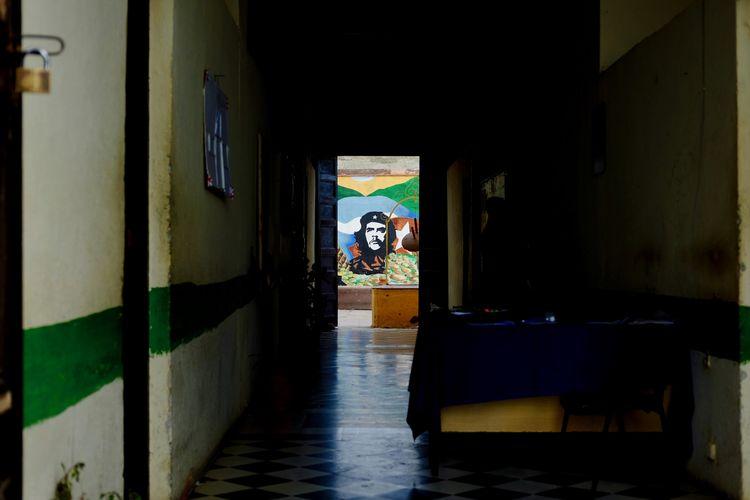 School corridors after lunch. Cuba Habana Havana Mural Painting Revolution Architecture Building Che Guevara Memorial Che Guevara Che Guevara House Che Guevara Painting Corridor Cuban Education House Indoors  No People Portrait School School Life