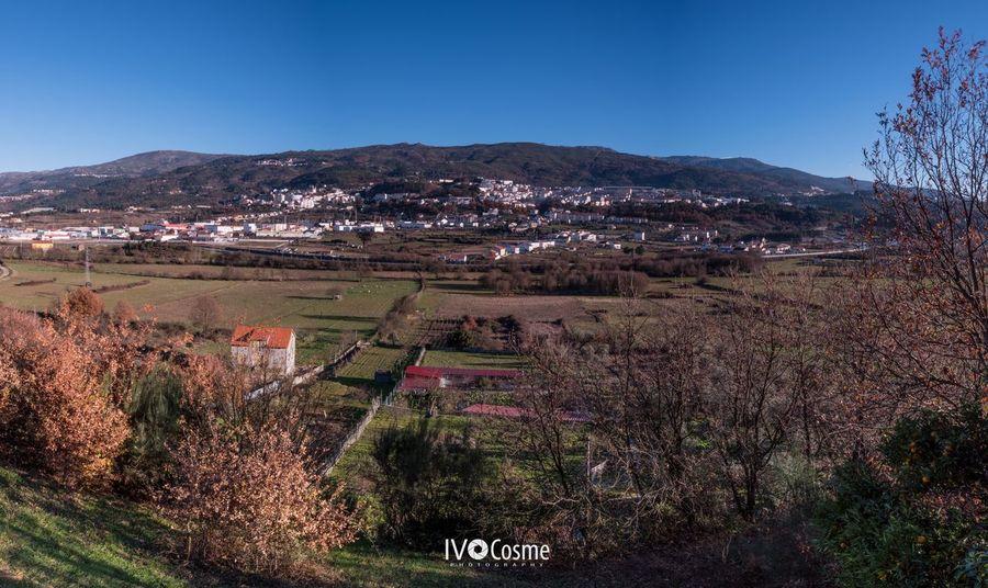 Panoramic view of Seia - Serra da Estrela Clear Sky Landscape Scenics Mountain Seia Serradaestrela High Angle View