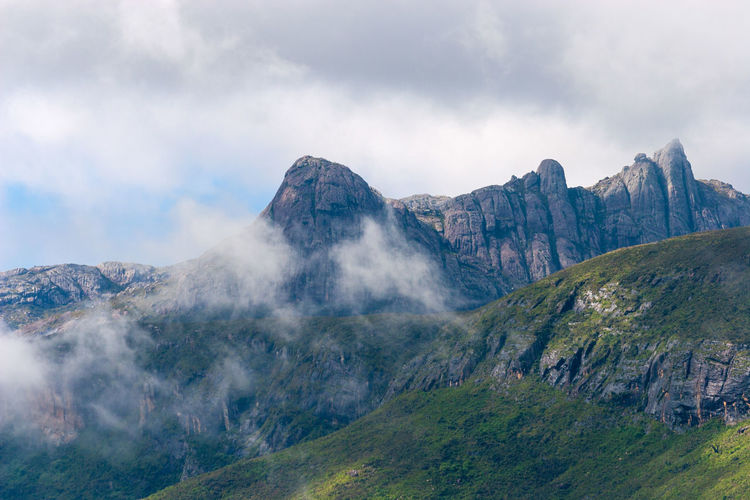 Summit in clouds in andringitra national park, madagascar