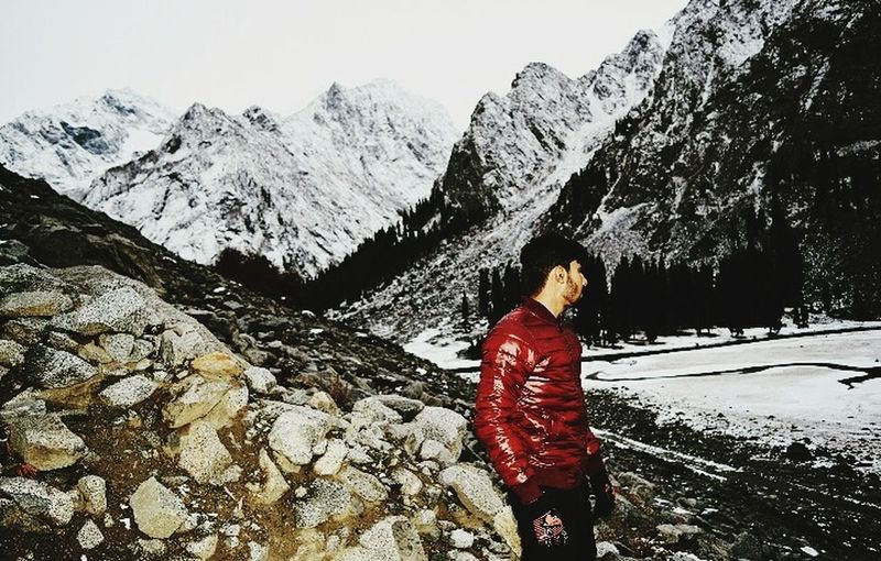 After certain hiking scene of mahodand lake was worthy Mahodand Village Kalam Mountain Snow Cold Temperature Winter Adventure Full Length Women Rear View Mountain Range Landscape First Eyeem Photo