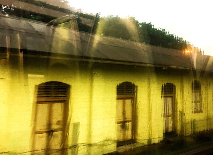 Paint The Town Yellow No People View From The Window... View From Train Window