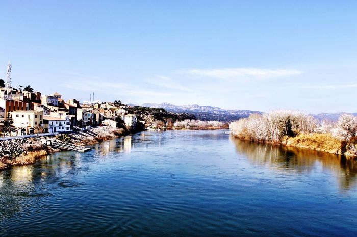 Vistas Riu Ebre River Nature Landscape Landscape_Collection Water View Town