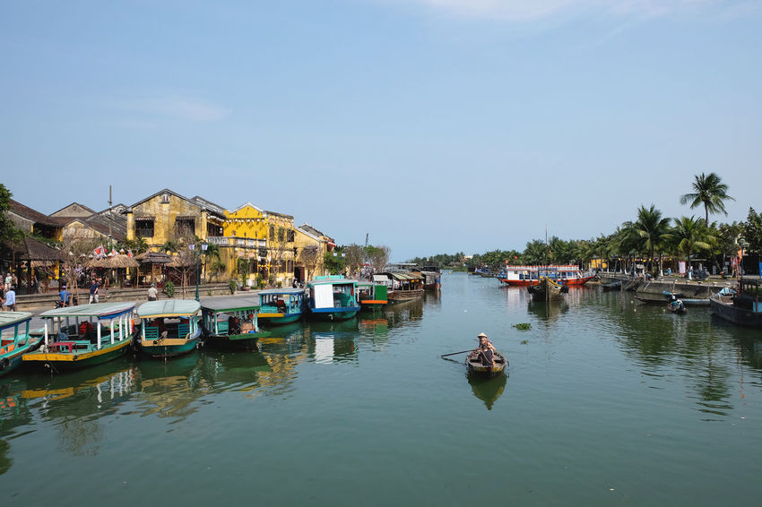 Backpacking Blue Boat Canal Day Hoi An Nature Old Town Outdoors Sky Tourism Town Travel Destinations Vietnam Wanderlust Water Feel The Journey