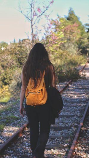 girl walking on
