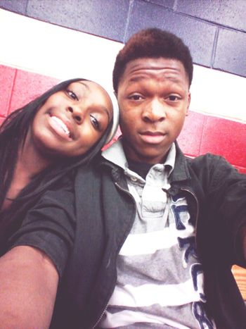 Me And My Lil Sis Keyuna At The Sw vs. Central Game