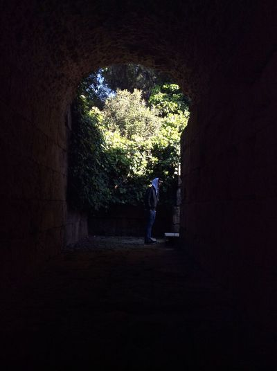 Mi luz al final del túnel Tunnel Men SPAIN Santiponce Illuminated