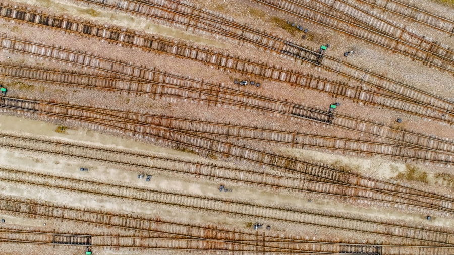 Full frame shot of railroad tracks