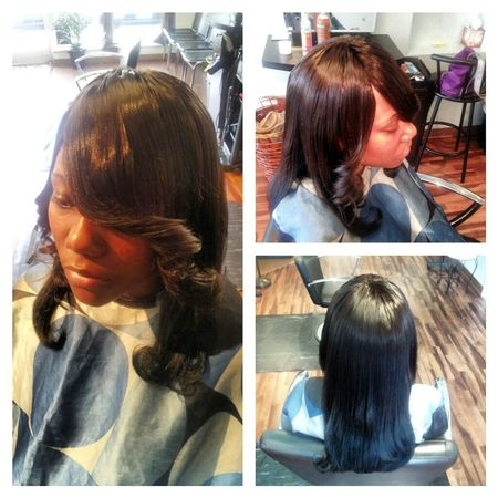 FULL SEW-IN WITH REMY STRAIGHT HAIR.