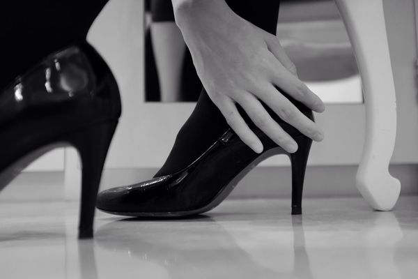 Shoes Blackandwhite Hand Monochrome