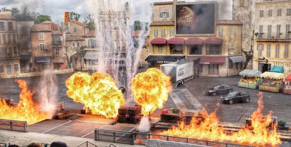 Disneyland Paris Stunt Show Fujifilm X30 Fire Architecture Heat - Temperature Smoke - Physical Structure Burning Stuntshow Special Effects Explosions