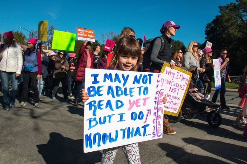 Protest Protestor Text Large Group Of People Placard Women Politics Day Outdoors Real People People Sky