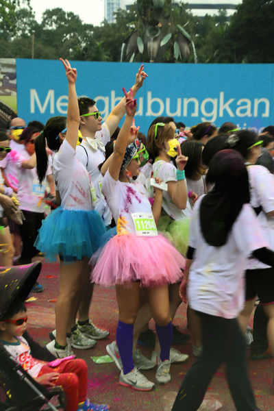 Colour Run Colourful From Start To Finish Good Cause Having Fun Running Kuala Lumpur Kuala Lumpur Colour Ru People Photography Run Run For A Cause The Colour Run