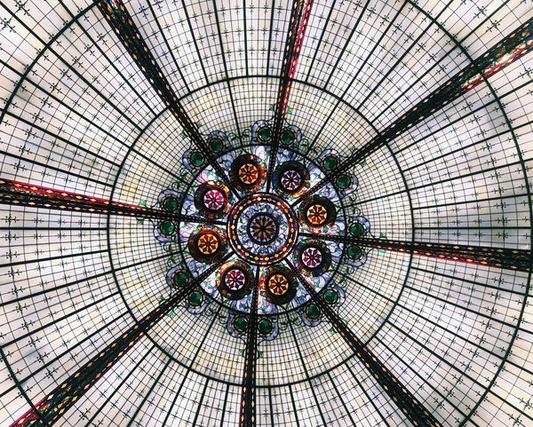 Ceiling Indoors  Dome Architecture Built Structure Concentric Architectural Feature Low Angle View Roof No People Day Las Vegas