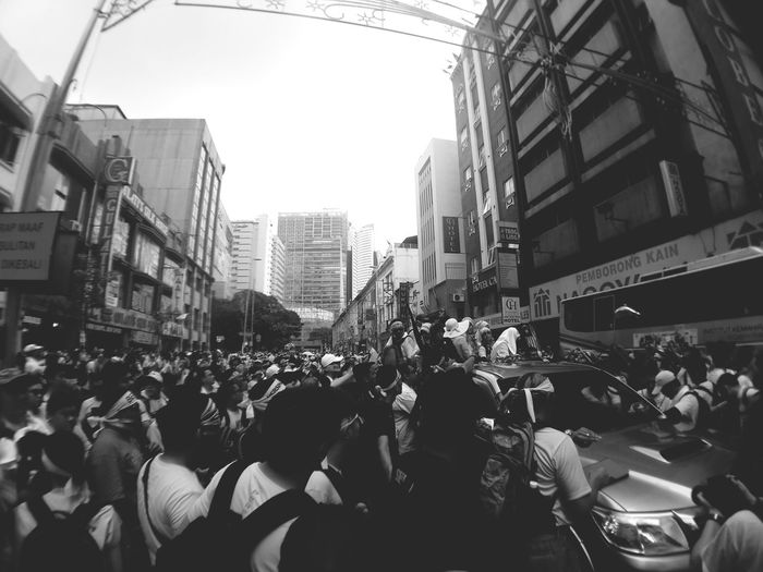 Sat August 29th, 2015. If you tremble indignation at every injustice then you are a comrade of mine. StreetProtestant Blackandwhite Bersih4 BErsih 4.0 Monochrome Peacerally Yellow