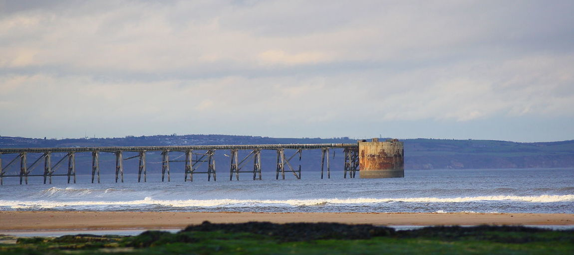 Christmas Day Photography :O) Architecture Beach Bridge - Man Made Structure Built Structure Cloud - Sky Day Horizon Over Water Nature No People Outdoors Scenics Sea Sky Water Wave
