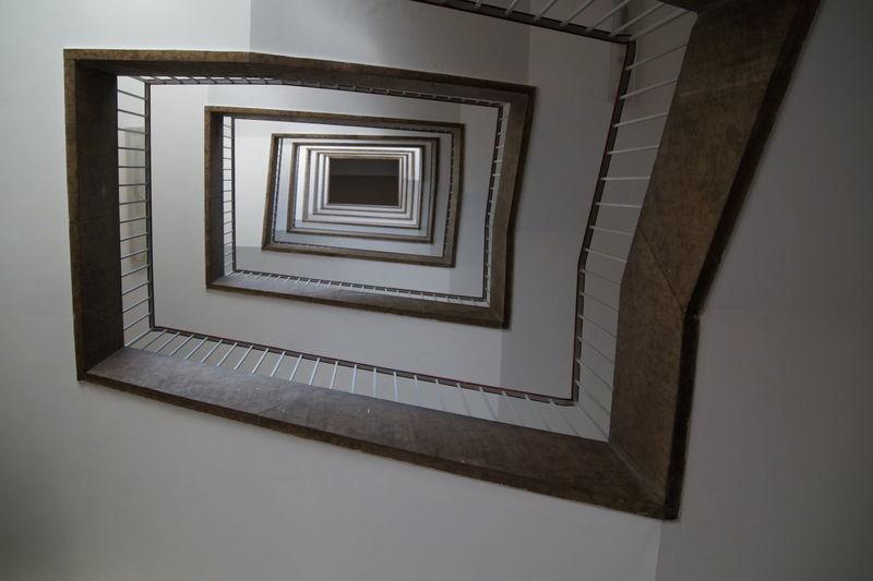 Full frame shot of stairway in building